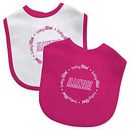 Baby Fanatic® University of Illinois 2-Pack Bibs