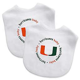 Baby Fanatic® University of Miami 2-Pack Bibs