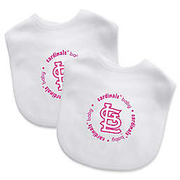 Baby Fanatic® MLB St. Louis Cardinals 2-Pack Pink Bibs