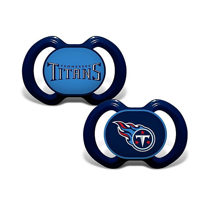 san francisco ec849 6027c NFL Tennessee Titans 2-Pack Team Logo Pacifiers | buybuy BABY