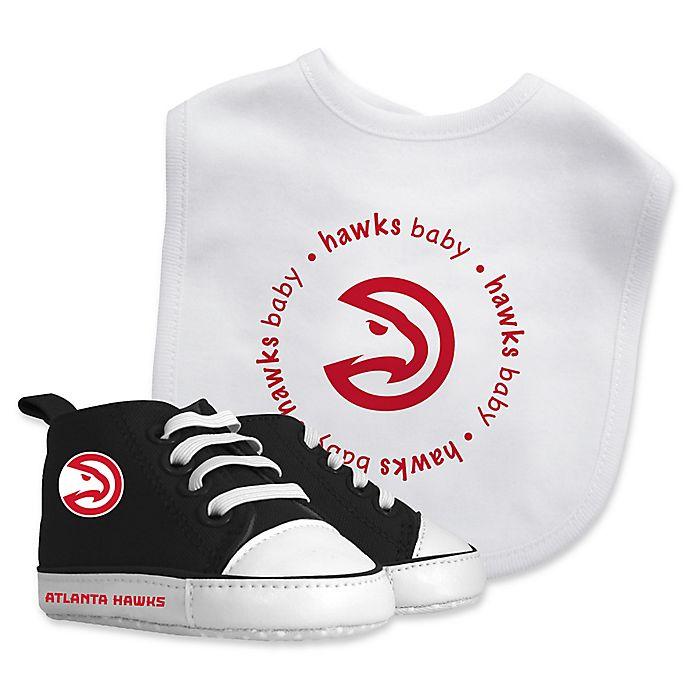 Alternate image 1 for Baby Fanatic® NBA Atlanta Hawks 2-Piece Bib and Prewalker Gift Set