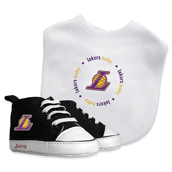 Alternate image 1 for Baby Fanatic® NBA Los Angeles Lakers 2-Piece Bib and Prewalker Gift Set