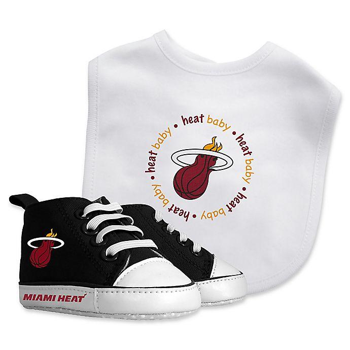 Alternate image 1 for Baby Fanatic® NBA Miami Heat 2-Piece Bib and Prewalker Gift Set