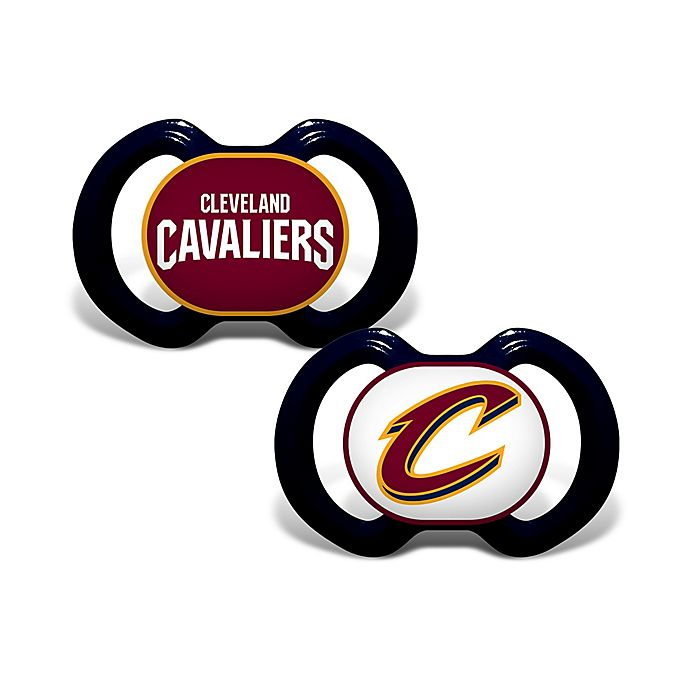 Alternate image 1 for Baby Fanatic® NBA Cleveland Cavaliers 2-Pack Pacifiers