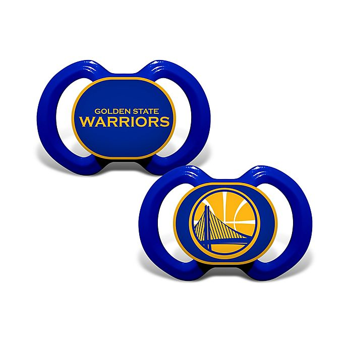Alternate image 1 for Baby Fanatic® NBA Golden State 2-Pack Pacifiers