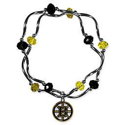 NHL Boston Bruins Double Strand Stretch Bead Bracelet