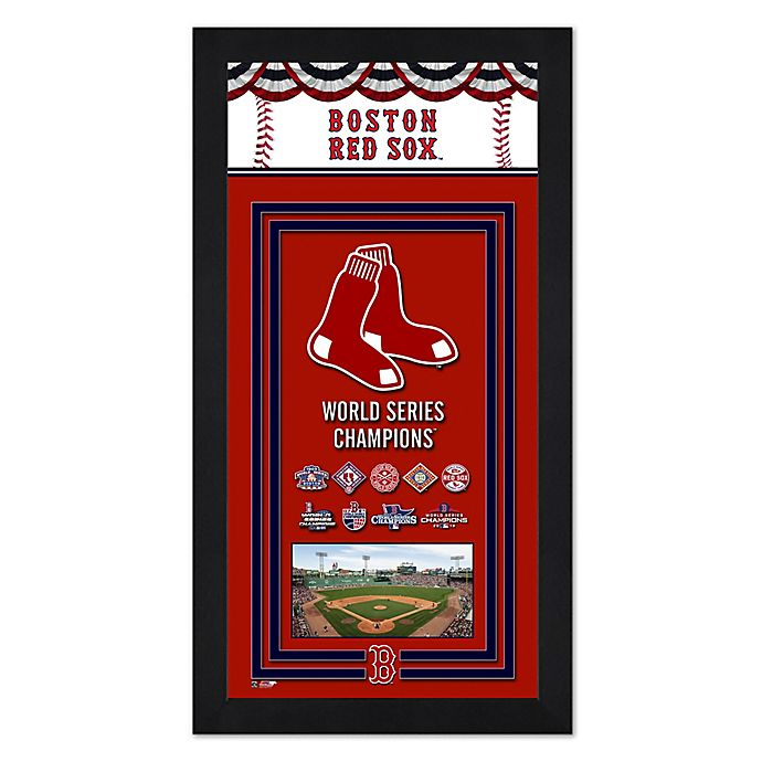 c8f950008 MLB Boston Red Sox 2018 World Series Champions Mini Banner with Frame