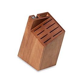 Zwilling J.A. Henckels Small 10-Slot Pro Knife Block in Walnut