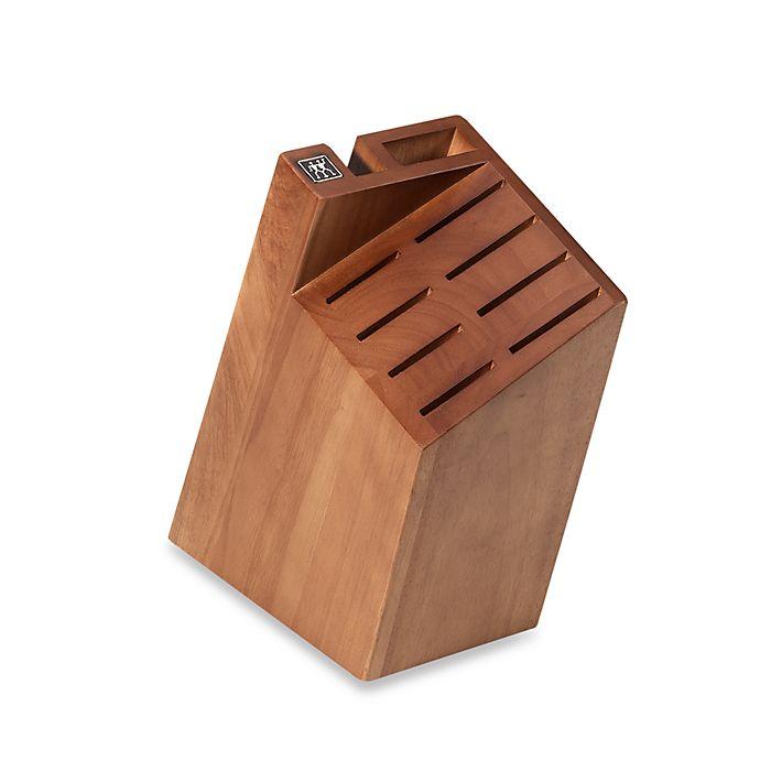 Alternate image 1 for Zwilling J.A. Henckels Small 10-Slot Pro Knife Block in Walnut