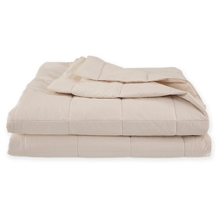 Alternate image 1 for EcoPure® Cotton-Filled Reversible Full/Queen Blanket in Creme