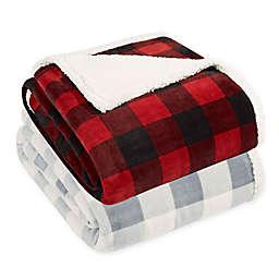 Eddie Bauer® Mountain Plaid Sherpa Reversible Blanket