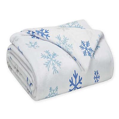 Winter Nights Snowflake Throw Blanket