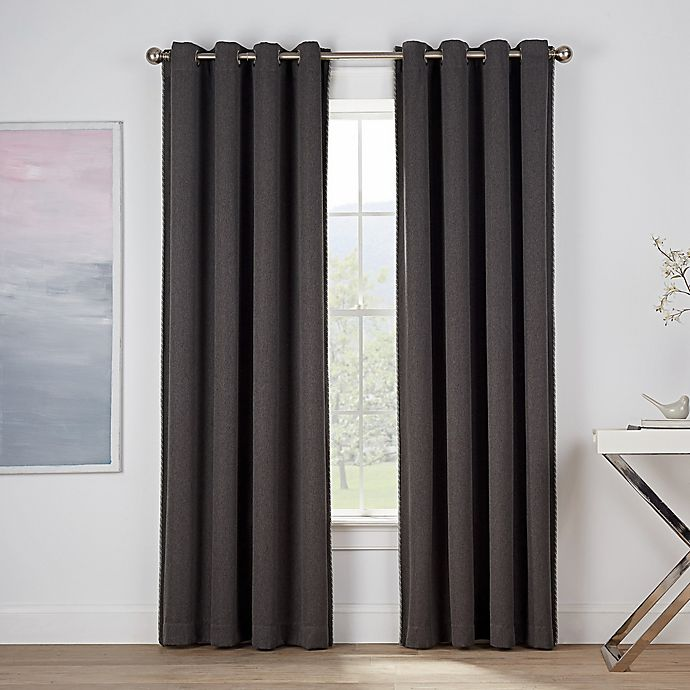 Alternate image 1 for Montgomery 84-Inch Grommet Window Curtain Panel in Fog