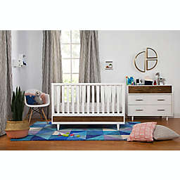 Babyletto Eero Nursery Furniture Collection in White/Walnut