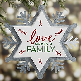 Love Makes A Family Personalized Christmas Ornament