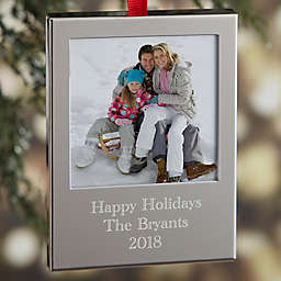 Photo Memories Engraved Picture Frame Christmas Ornament