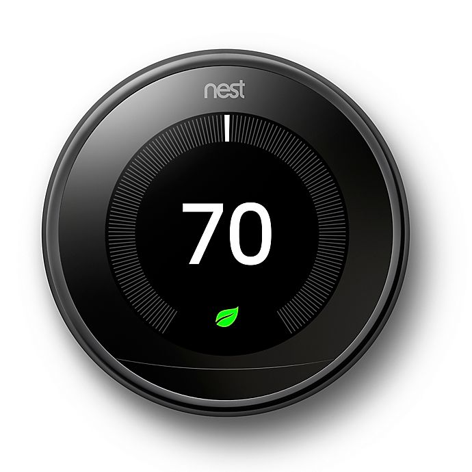 Alternate image 1 for Google Nest Learning Third Generation Thermostat in Mirror Black