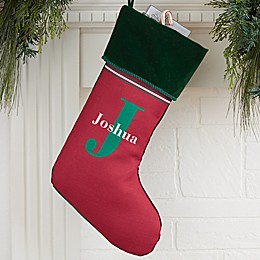 My Name & Monogram Personalized Christmas Stocking