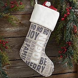 Holiday Celebration Personalized Christmas Stocking