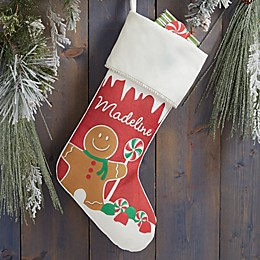 Gingerbread Characters Personalized Christmas Stocking