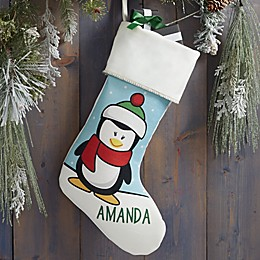 Penguin Characters Personalized Christmas Stocking