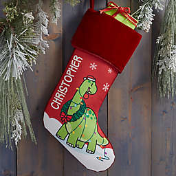 Dinosaur Personalized Christmas Stocking