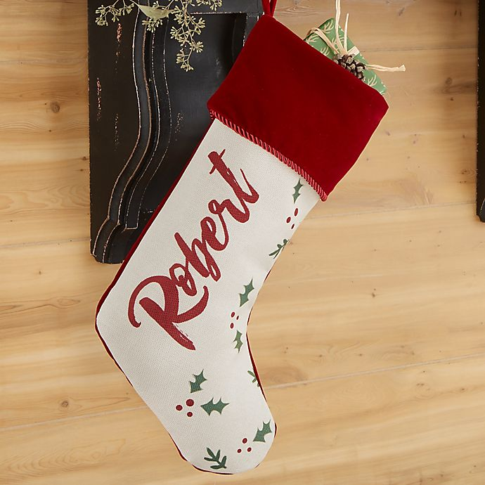 Alternate image 1 for Cozy Christmas Personalized Christmas Stocking