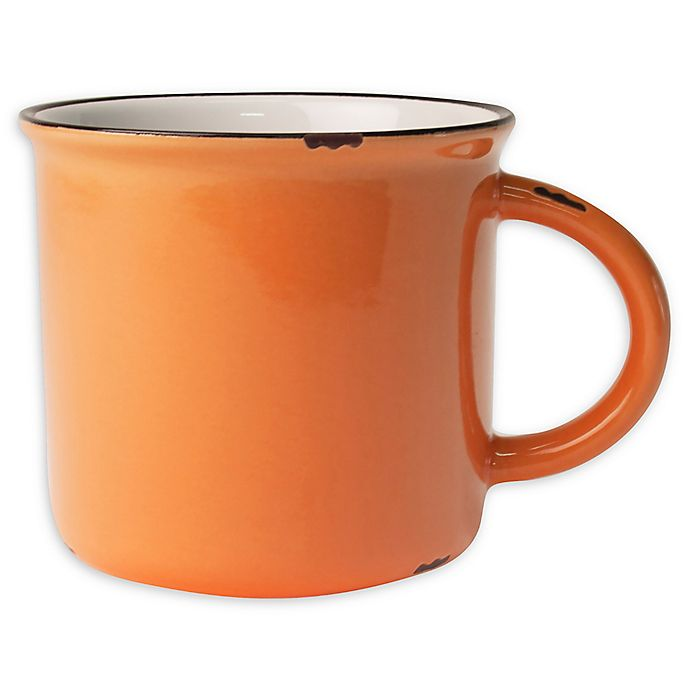 Alternate image 1 for canvas home™ Tinware Mugs in Orange (Set of 4)