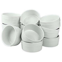 Over & Back® Round Ramekins in White (Set of 12)