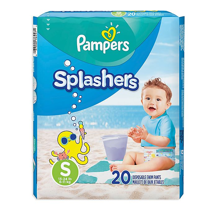 Alternate image 1 for Pampers® Splashers 20-Count Size S Disposable Swim Pants