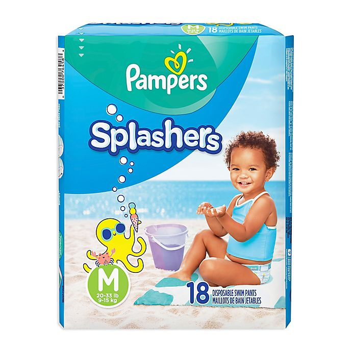 Alternate image 1 for Pampers® Splashers 18-Count Size M Disposable Swim Pants