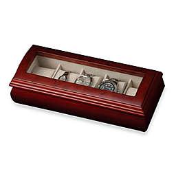 Mele & Co. Glass Top Cherry Wood Watch Box