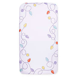 Trend Lab® My Tiny Moments™ Holiday Lights Fitted Crib Sheet