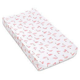 aden® by aden + anais® Swan Changing Pad Cover in Pink