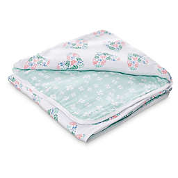 aden + anais™ essentials Floral Rose Muslin Receiving Blanket