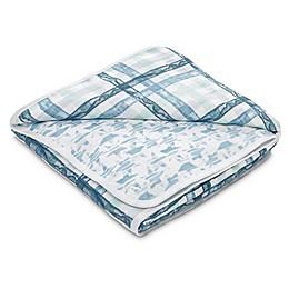 aden® by aden + anais® Retro Muslin Receiving Blanket in Blue
