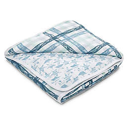 aden® by aden + anais® Retro Muslin Receiving Blanket in Blue