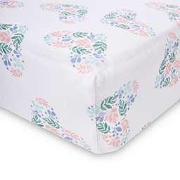 aden® by aden + anais® Floral Heart Crib Sheet in Blue