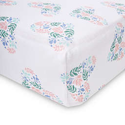 aden + anais™ essentials Floral Heart Crib Sheet in Blue
