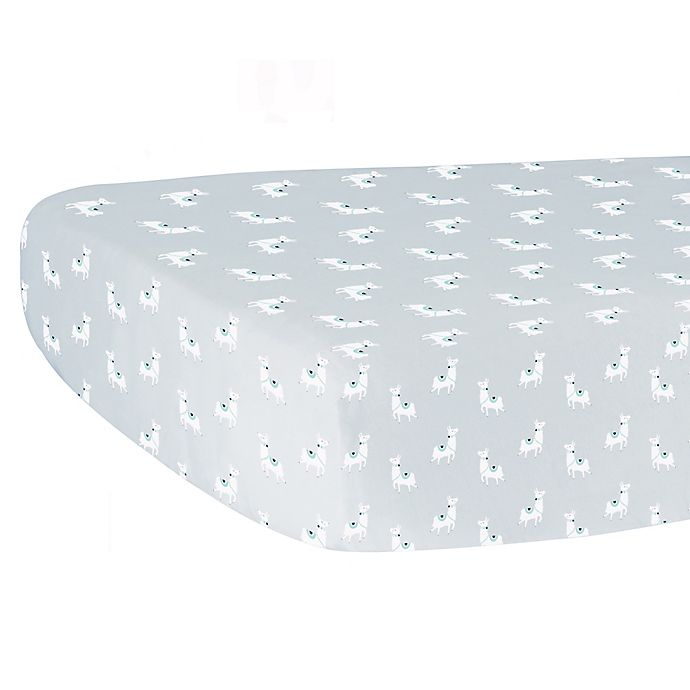 Alternate image 1 for Hello Spud Print Organic Cotton Fitted Crib Sheet