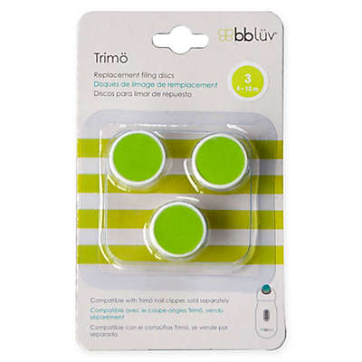 bblüv® 3-Pack Trimö Baby Electric Nail Trimmer Stage 3 Replacement Filing Discs