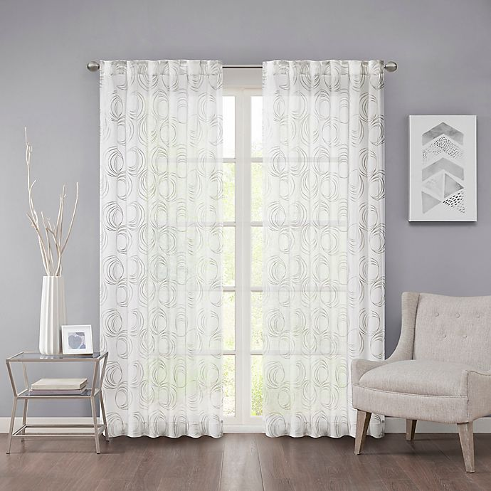 Alternate image 1 for Regency Heights Cosma 63-Inch Rod Pocket/Back Tab Sheer Window Curtain Panel in White