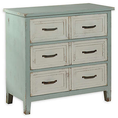 Rustic 3-Drawer Chest in Green