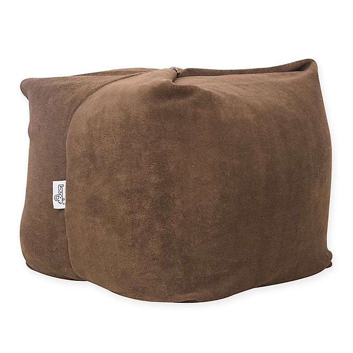 Alternate image 1 for Loungie Adjustable Magic Pouf Bean Bag Ottoman in Brown