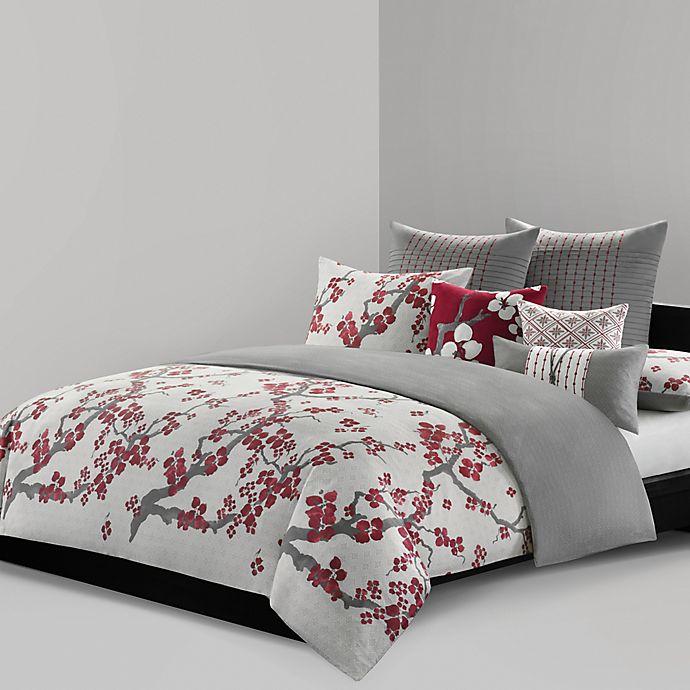 Alternate image 1 for N Natori® Cherry Blossom Reversible Duvet Cover Set