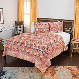 Rizzy Home Dash Geometric Twin XL Quilt Set in Yellow