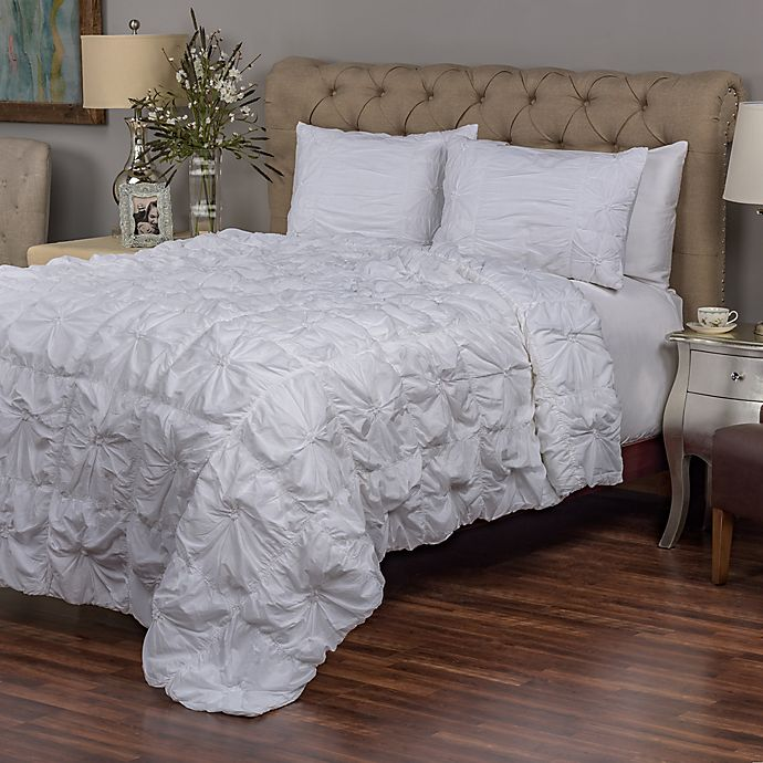 Alternate image 1 for Rizzy Home Dreamweaver King Quilt Set in Light Blue