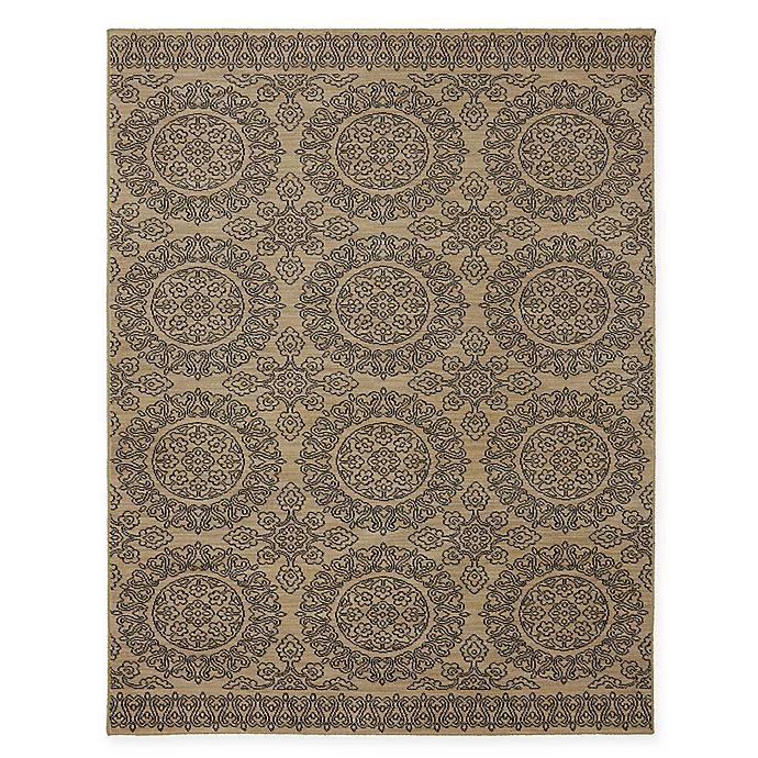 Alternate image 1 for Karastan Pacifica Leawood 9-Foot 6-Inch x 12-Foot 11-inch Area Rug in Tan
