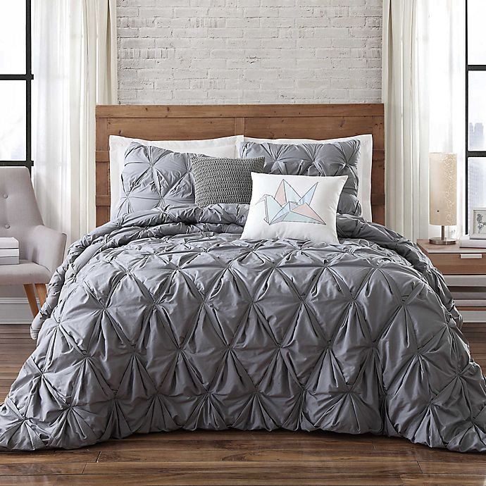 Alternate image 1 for Brooklyn Loom Jackson Pleat Comforter Set