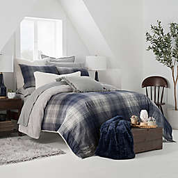 UGG® Redding Plaid 3-Piece Reversible King Duvet Cover Set in Navy/Grey
